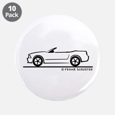 """New Ford Mustang Convertible 3.5"""" Button (10 pack)"""