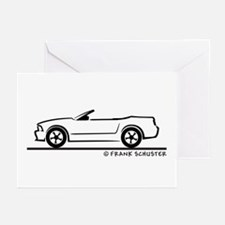 New Ford Mustang Convertible Greeting Cards (Pk of