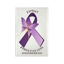 Support Fibromyalgis Awareness Rectangle Magnet