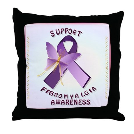 Support Fibromyalgis Awareness Throw Pillow