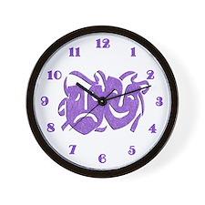 Purple Masks Wall Clock
