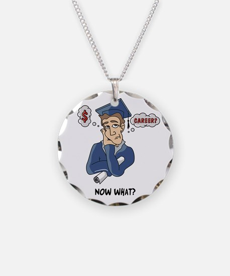 Funny Grad Necklace Circle Charm