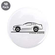 """New Ford Mustang Fastback 3.5"""" Button (10 pack)"""