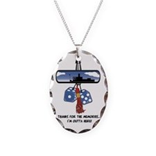 Thanks for the Memories Necklace Oval Charm