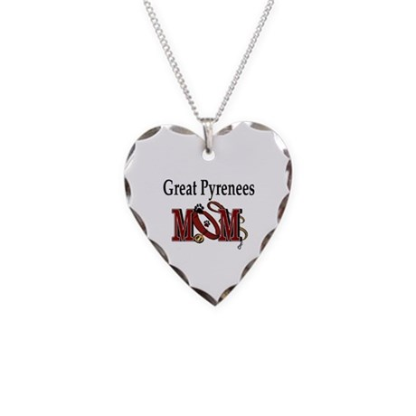 Great Pyrenees Gifts Necklace Heart Charm
