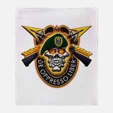 US Army Special Forces Throw Blanket