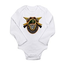 US Army Special Forces Long Sleeve Infant Bodysuit