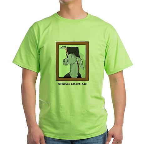 Official Smart Ass Green T-Shirt
