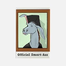 Official Smart Ass Rectangle Magnet
