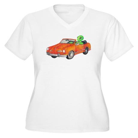 Volkswagen Karmann Ghian Women's Plus Size V-Neck