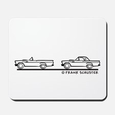 Two 1957 Ford Thunderbirds Mousepad