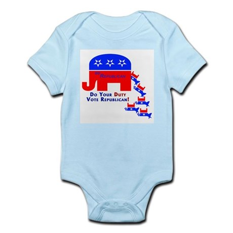 Do Your Duty Vote Republican Infant Creeper