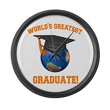 World's Greatest Graduate Large Wall Clock