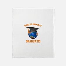 World's Greatest Graduate Throw Blanket