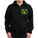 Baby Chicks in the Garden Zip Hoodie (dark)
