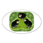 Baby Chicks in the Garden Sticker (Oval)