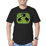 Baby Chicks in the Garden Men's Fitted T-Shirt (da