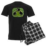 Baby Chicks in the Garden Men's Dark Pajamas