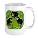 Baby Chicks in the Garden Large Mug