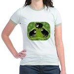 Baby Chicks in the Garden Jr. Ringer T-Shirt