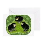 Baby Chicks in the Garden Greeting Card