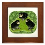 Baby Chicks in the Garden Framed Tile