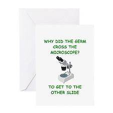 biology joke Greeting Card