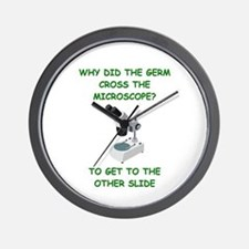 biology joke Wall Clock