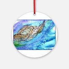 Wildlife, Sea Turtle, art, Ornament (Round)