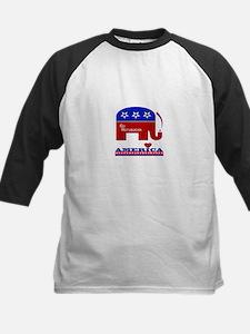 Go Republican Love America Kids Baseball Jersey