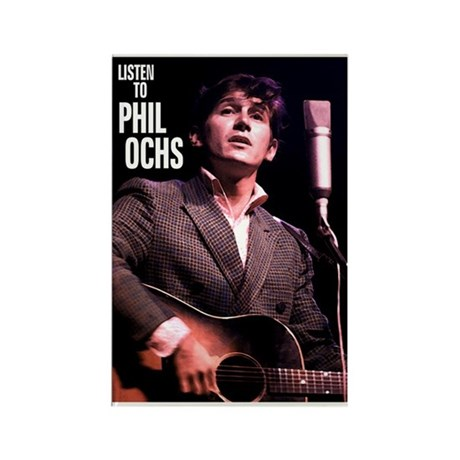 Phil Ochs Rectangle Magnet