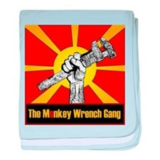 The Monkey Wrench Gang baby blanket