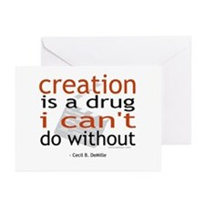Creation is a drug Greeting Cards (Pk of 10)