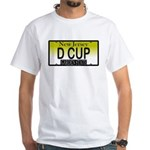 D Cup NJ Vanity Plate White T-Shirt