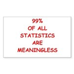 funny statistics joke Sticker (Rectangle 50 pk)
