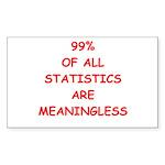 funny statistics joke Sticker (Rectangle 10 pk)