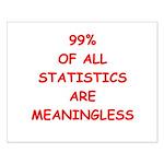funny statistics joke Small Poster
