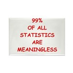 funny statistics joke Rectangle Magnet (100 pack)