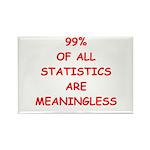 funny statistics joke Rectangle Magnet (10 pack)