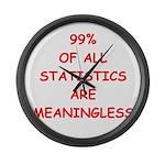 funny statistics joke Large Wall Clock