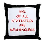funny statistics joke Throw Pillow