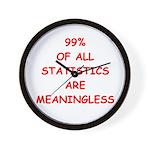 funny statistics joke Wall Clock