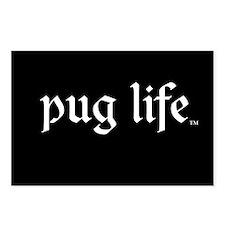 Pug Life Basic Postcards (Package of 8)