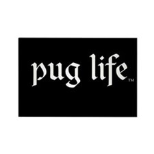 Pug Life Basic Rectangle Magnet