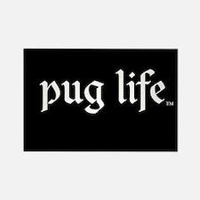 Pug Life Basic Rectangle Magnet