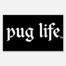 Pug Life Basic Sticker (Rectangle)