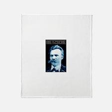 Nietzsche Throw Blanket