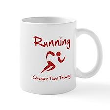 Running Cheaper Than Therapy! Mug