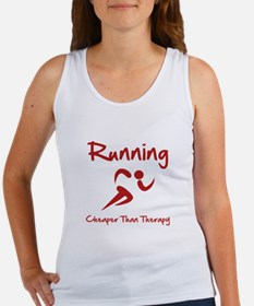 Running Cheaper Than Therapy! Women's Tank Top