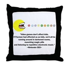 Video Games Don't Affect Kids Throw Pillow